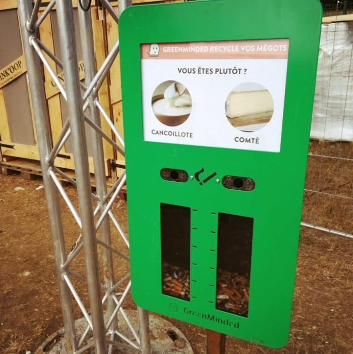 cendrier sondage vert