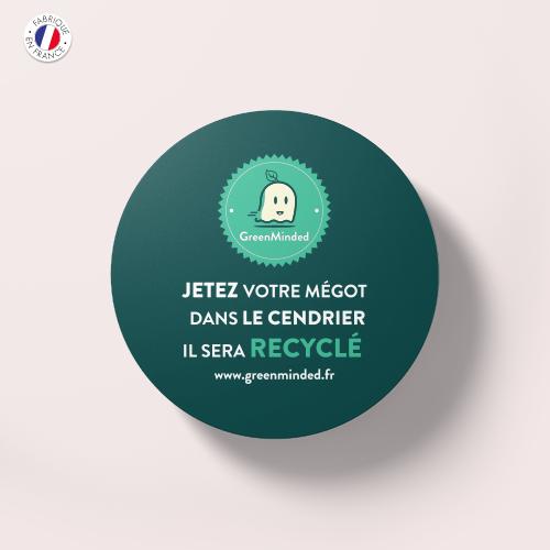 Sticker---Recyclage-Mégots---GreenMinded