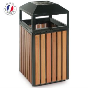cendrier-corbeille bois Collecte recyclage mégots de cigarettes - GreenMinded