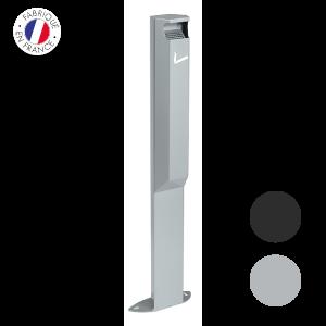 cendrier-sur-pied-rectangulaire Collecte recyclage mégots de cigarettes - GreenMinded