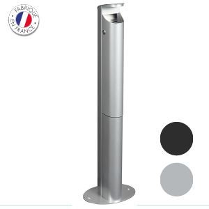cendrier_sur pied - serrure Collecte recyclage mégots de cigarettes - GreenMinded