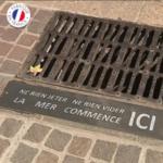 plaque-egouts- sensibilisation -mégots Collecte recyclage mégots de cigarettes - GreenMinded