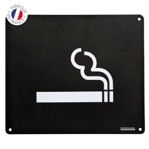 plaque-signaletique-mégots Collecte recyclage mégots de cigarettes - GreenMinded